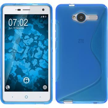 Silikon Hülle Blade L3 S-Style blau + 2 Schutzfolien