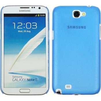 Hardcase Galaxy Note 2 Slimcase blau + 2 Schutzfolien