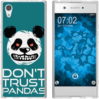 Sony Xperia XA1 Silicone Case Crazy Animals Panda M2