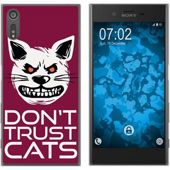 Sony Xperia XZs Silicone Case Crazy Animals M1