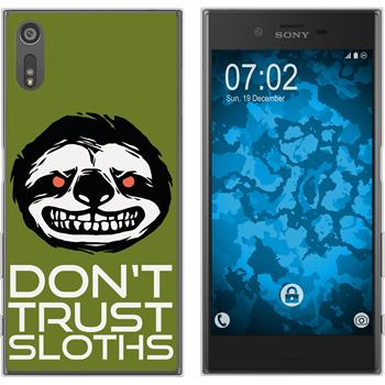 Sony Xperia XZs Silicone Case Crazy Animals sloth M3