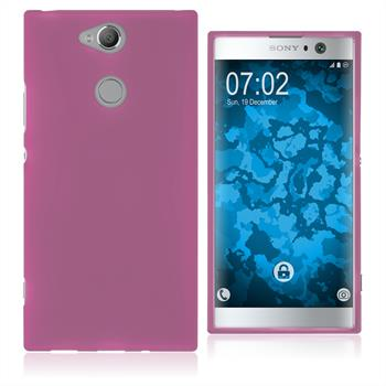 Silikon Hülle Xperia XA2 matt pink Case