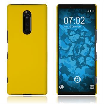 Hardcase Xperia XZ4 gummiert gelb Cover