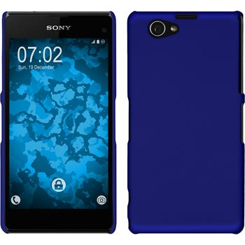 Hardcase for Sony Xperia Z1 Compact rubberized blue