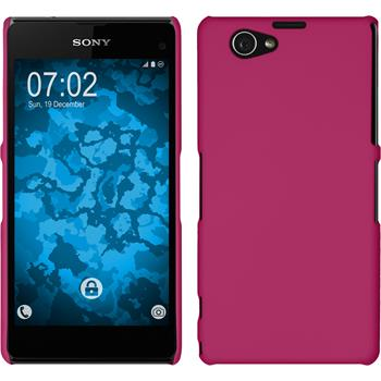 Hardcase Xperia Z1 Compact gummiert pink