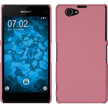 Hardcase Xperia Z1 Compact gummiert rosa