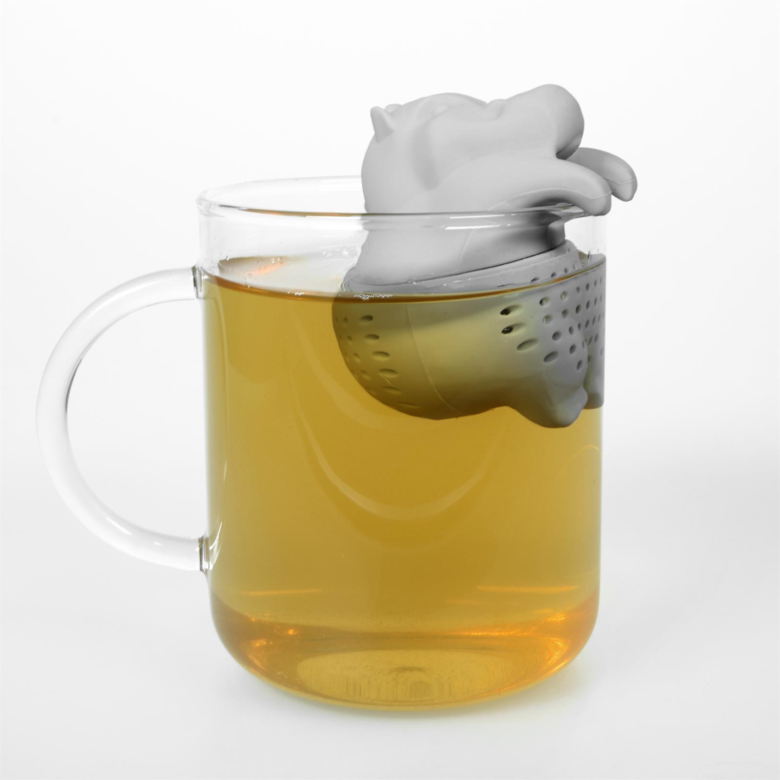 Lustiges niedliches buntes Silikon Tee Ei Sieb Kugel Filter Ball Figur loser Tee 7