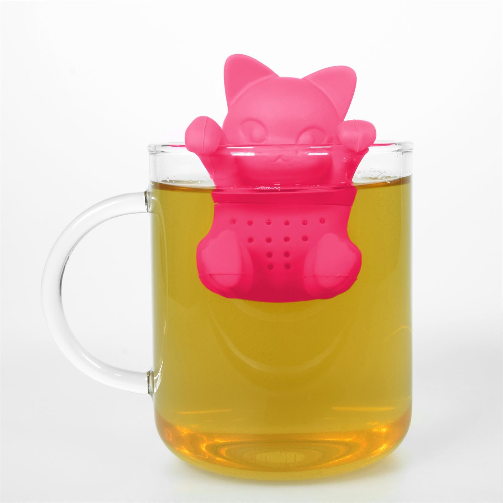 Lustiges niedliches buntes Silikon Tee Ei Sieb Kugel Filter Ball Figur loser Tee 6