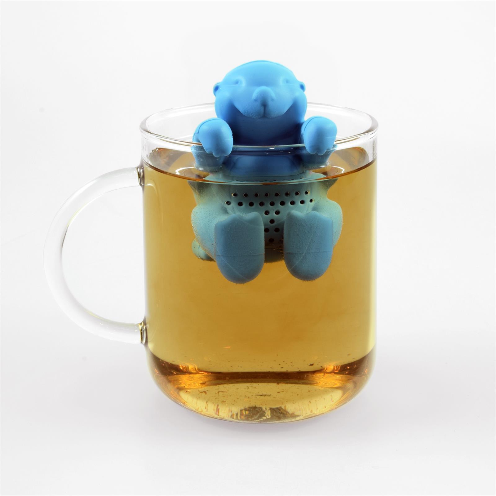 Lustiges niedliches buntes Silikon Tee Ei Sieb Kugel Filter Ball Figur loser Tee 8
