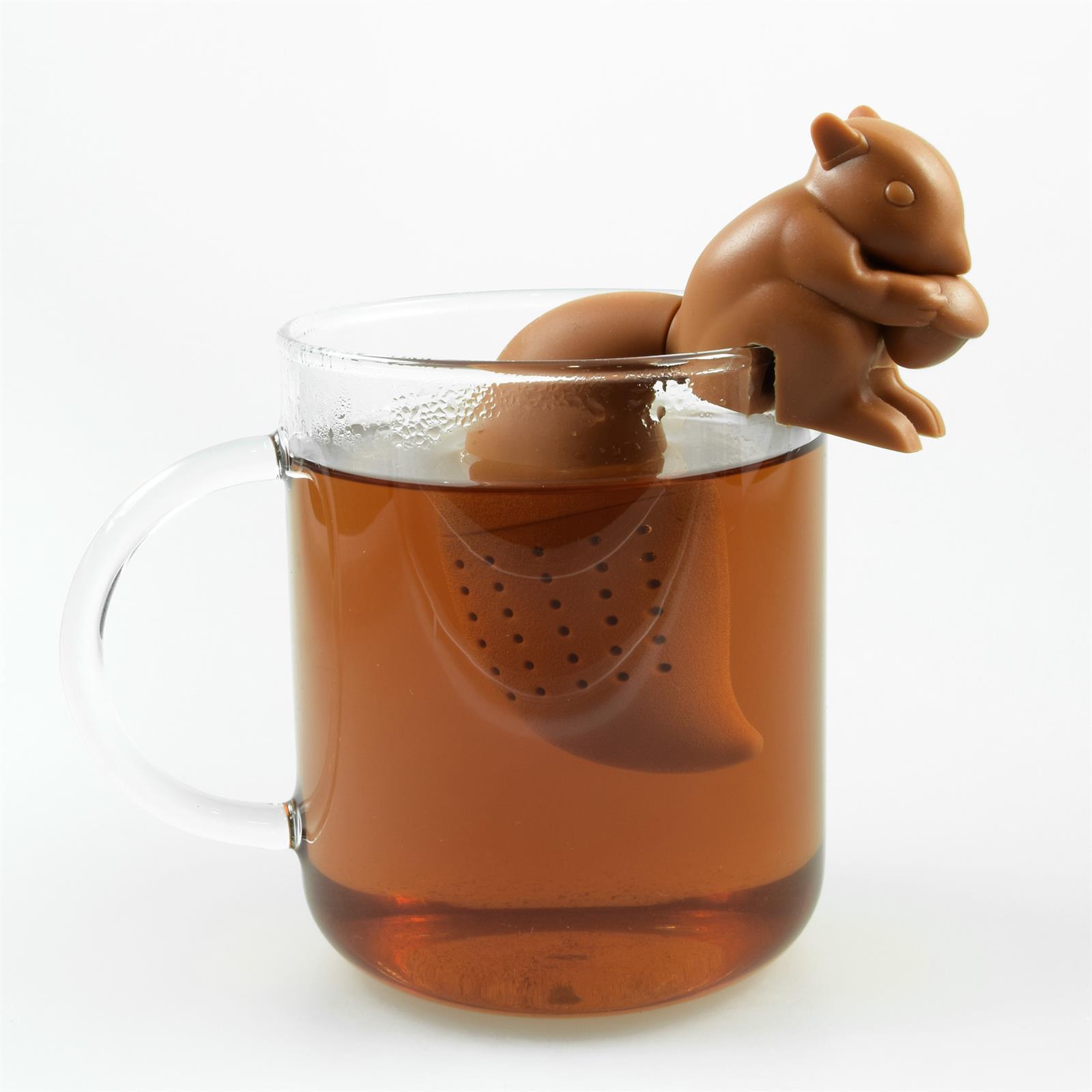 Lustiges niedliches buntes Silikon Tee Ei Sieb Kugel Filter Ball Figur loser Tee 4