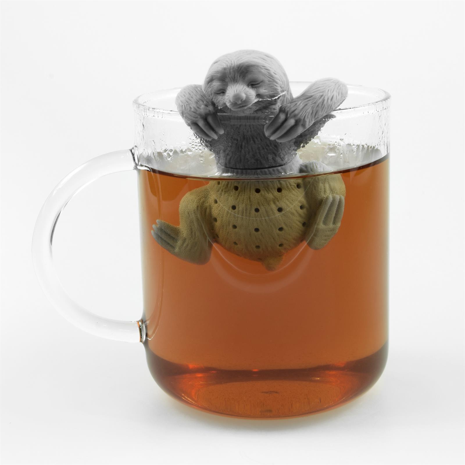 Lustiges niedliches buntes Silikon Tee Ei Sieb Kugel Filter Ball Figur loser Tee 5