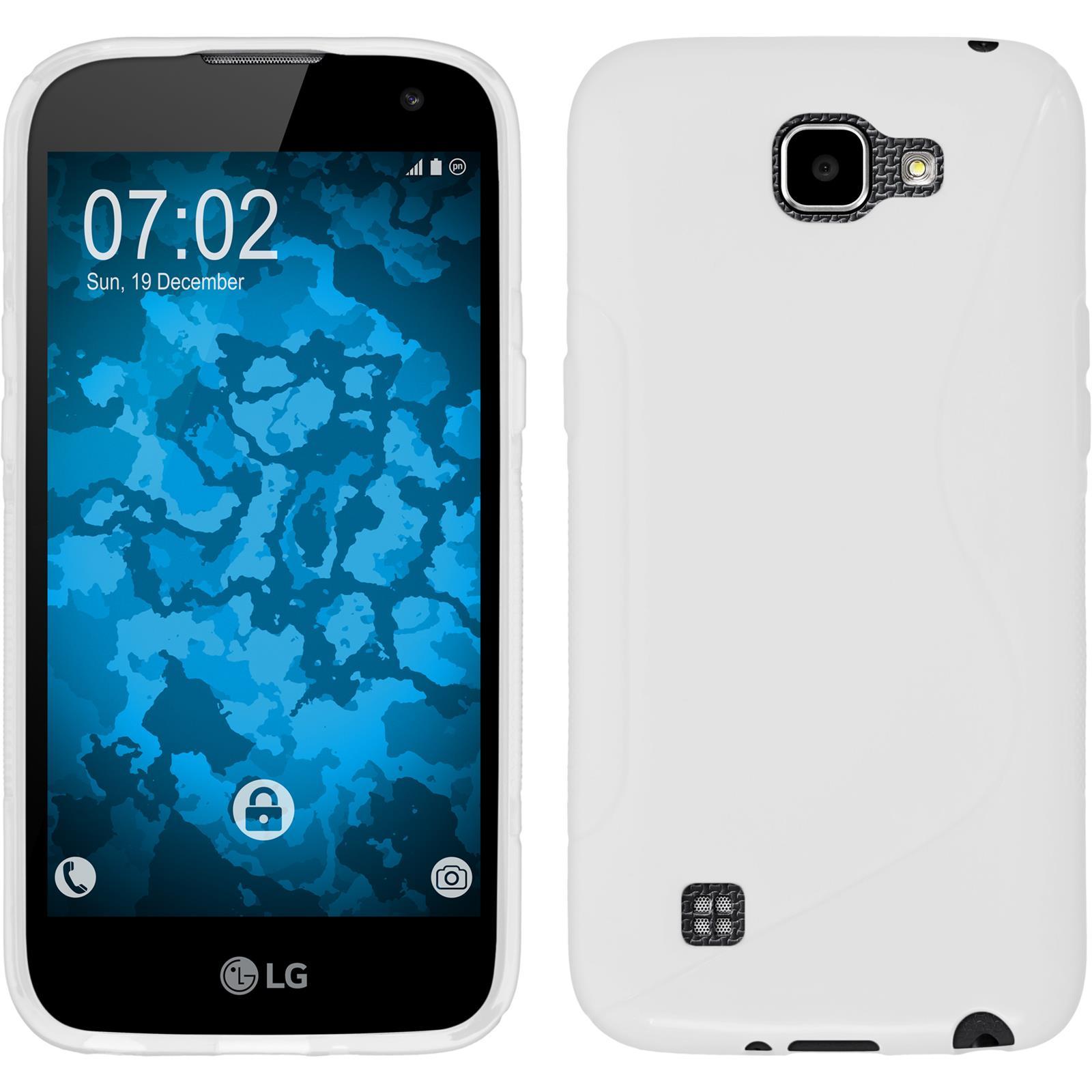Funda-de-silicona-LG-K4-2016-S-Style-protector-de-pantalla