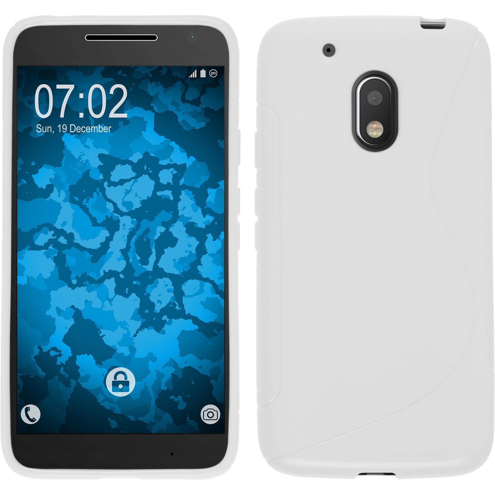 Funda-de-silicona-Motorola-Moto-G4-Play-S-Style-protector-de-pantalla