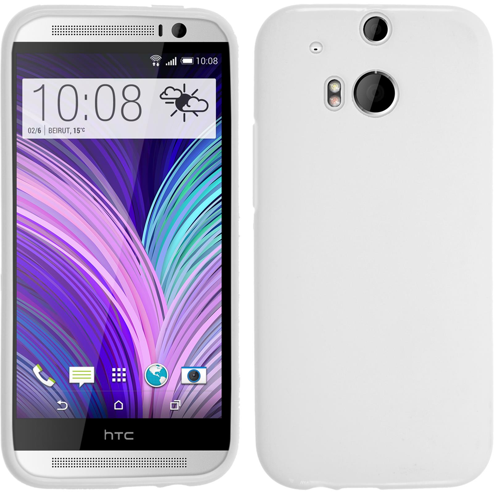 Silicone-Case-for-HTC-One-M8-matt-protective-foils