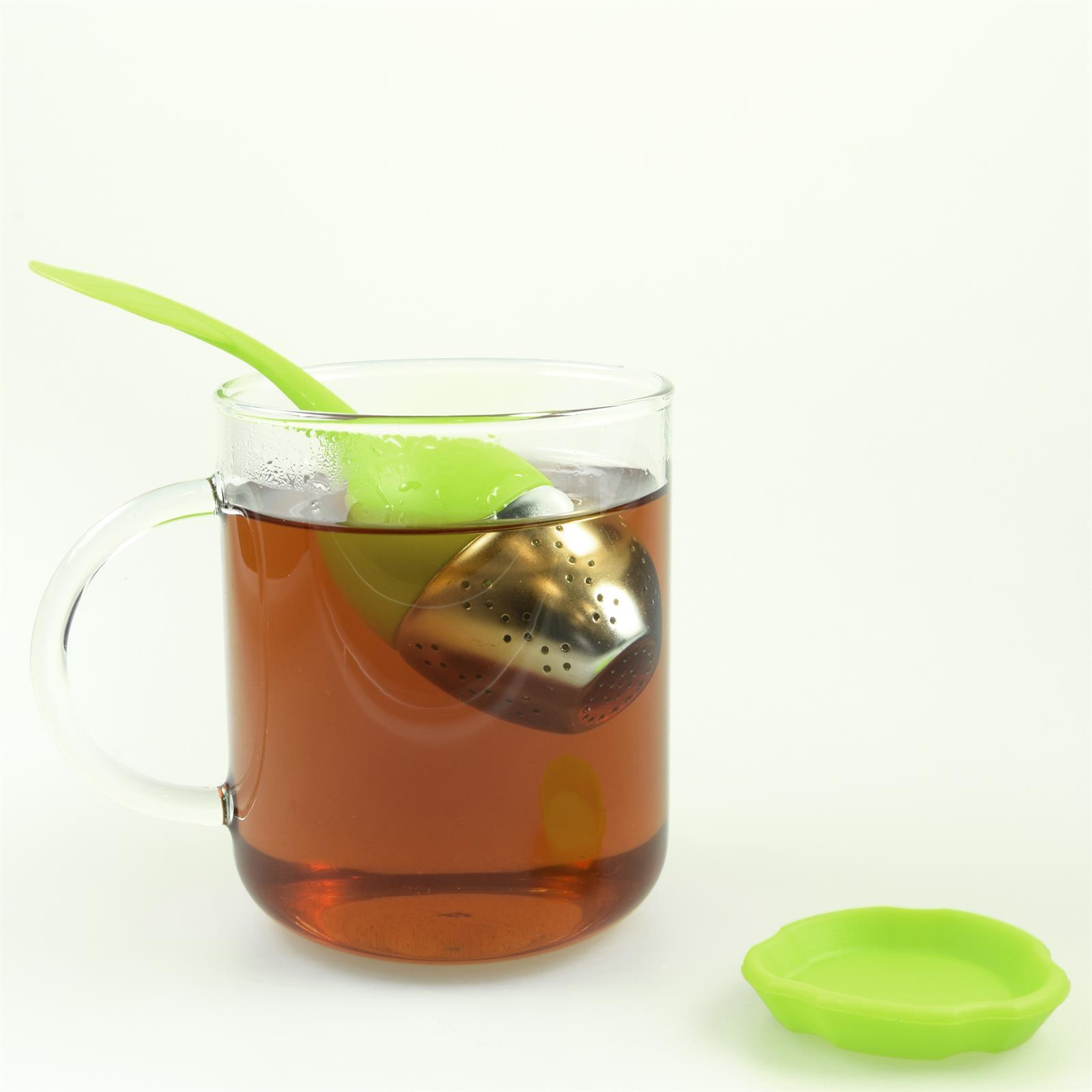 Lustiges niedliches buntes Silikon Tee Ei Sieb Kugel Filter Ball Figur loser Tee 2