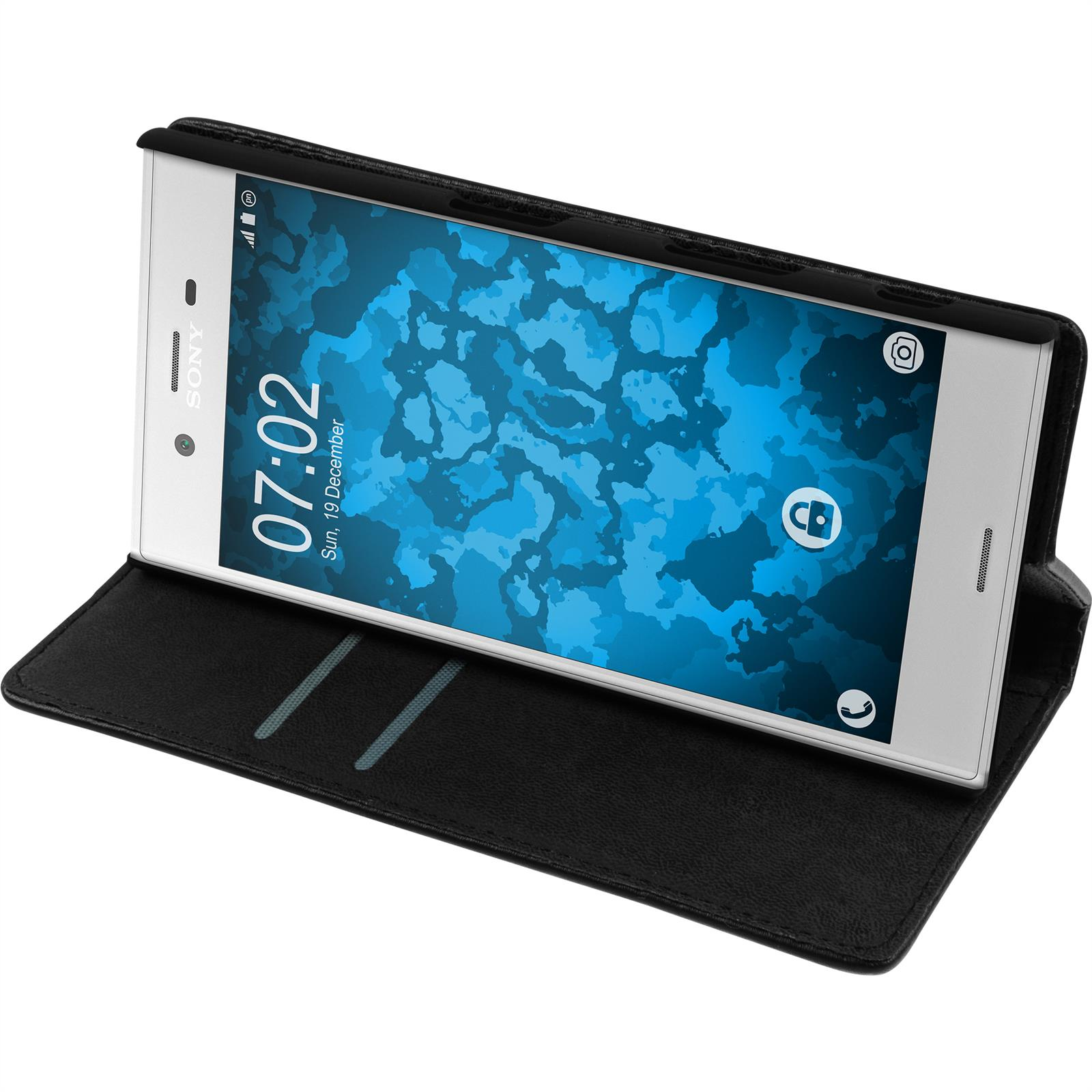Artificial-Leather-Case-for-Sony-Xperia-XZ-Bookstyle-protective-foils