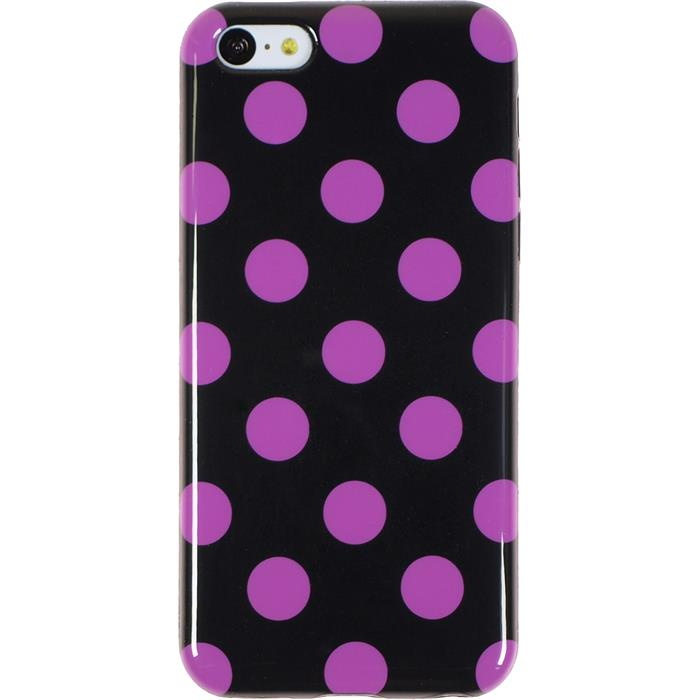 silikon h lle f r apple iphone 5c design 07 polkadot 2. Black Bedroom Furniture Sets. Home Design Ideas